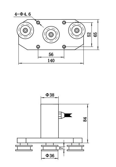 LZ-ZL7三滑轮张力传感器